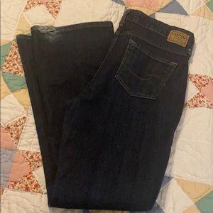 Women's low rise boot cut jeans